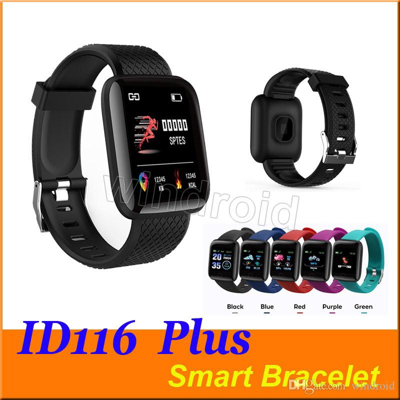 Fitness Tracker ID116 116 PLUS Smart Bracelet with Heart Rate Smart Watchband Blood Pressure Wristband PK ID115 PLUS 116 PLUS F0 cheapest