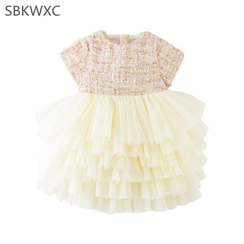 Bebê princesa vestido para meninas festa de aniversário batismo vestido em camadas crianças rendas tule vestido da menina crianças crianças traje 1-5TMX190912