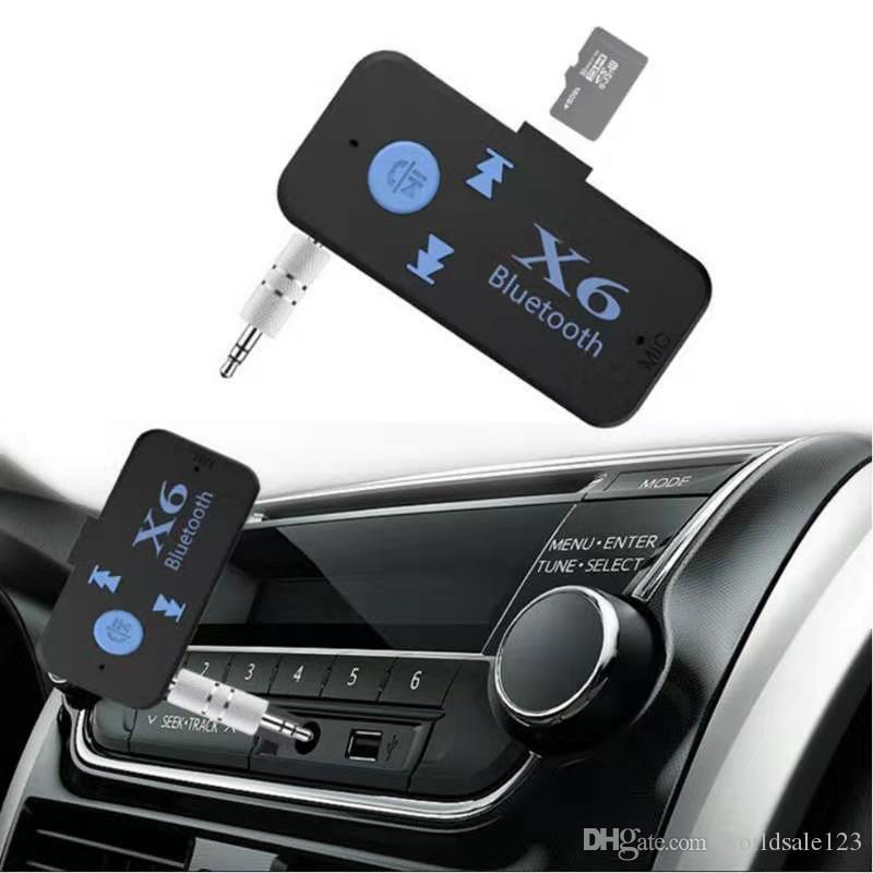 X6 Récepteur Bluetooth Universal V4.2 Support TF Carte TF Callfree Call Lecteur de musique Téléphone Aux In / Sortie MP3 Music Player