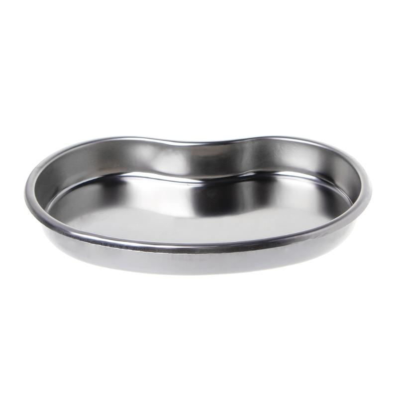 Medical Stainless Steel Kidney Bowl Curved Trays Dental Tool Surgical Use Trays J6PD