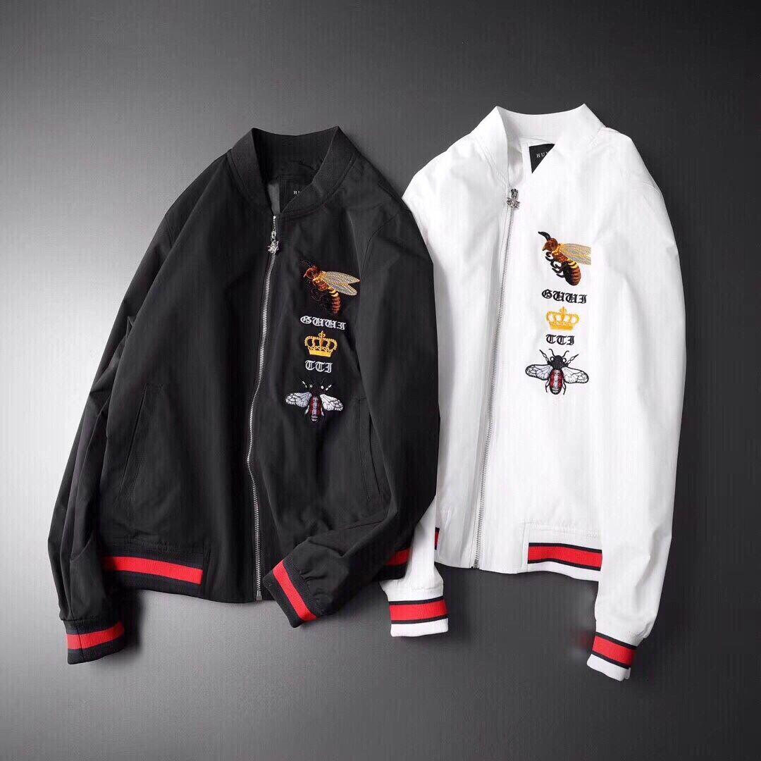 0407 GUC mens designer jackets Baseball collar jacket for men high end fashion personality leisure streetwear 60Y7 BOY0