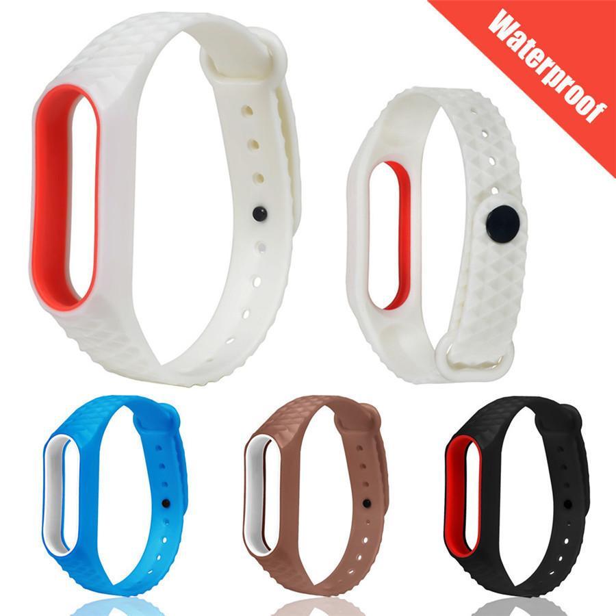 Watch Band Strap Light Silicon Wrist Strap WristBand Bracelet Replacement For XIAOMI MI Band 2 Strap #1215