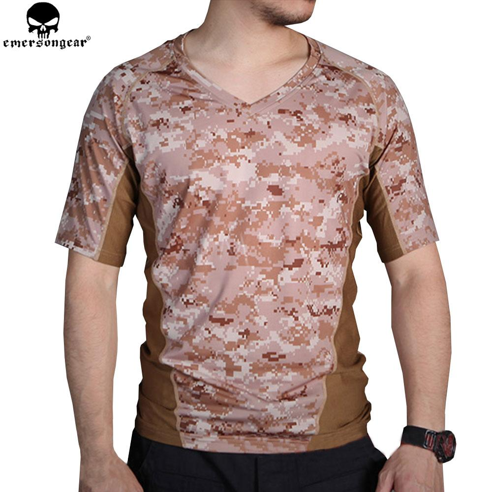 EMERSONGEAR Tactical Camo T-shirt Hunting Camo Running Tight Base Layer Camouflage T-shirt Breathable Perspiration Shirt EM9167