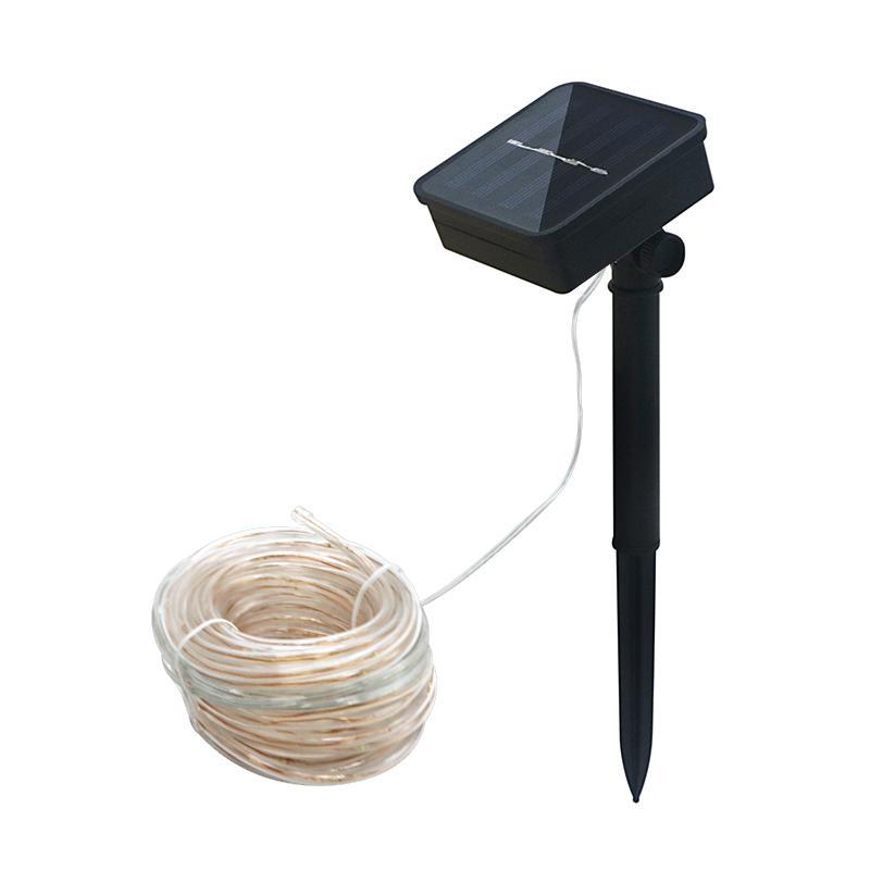Edison2011 10 Mt 100 leds Solar LED Lichterketten Outdoor 5 Farben Seil Rohr Led String Solarbetriebene Lichterketten für Gartenzaun Landschaft