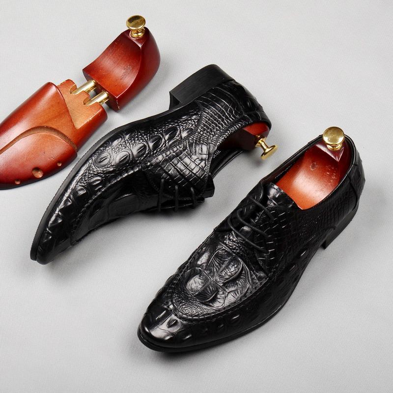Großhandel Weinrot Schwarz Krokodilleder Formal Business Schuhe Flache Ferse Spitze Herren Kleid Schuhe Von Softkett, $197.49 Auf De.Dhgate.Com |