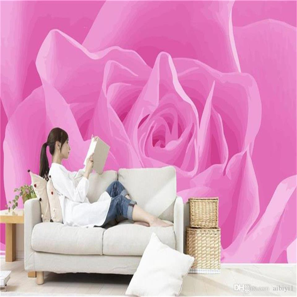 Tamaño personalizado Foto 3d papel tapiz mural de la sala Rojo amarillo azul sueño rosas Imagen 3d Sofá TV telón de fondo papel tapiz etiqueta no tejida