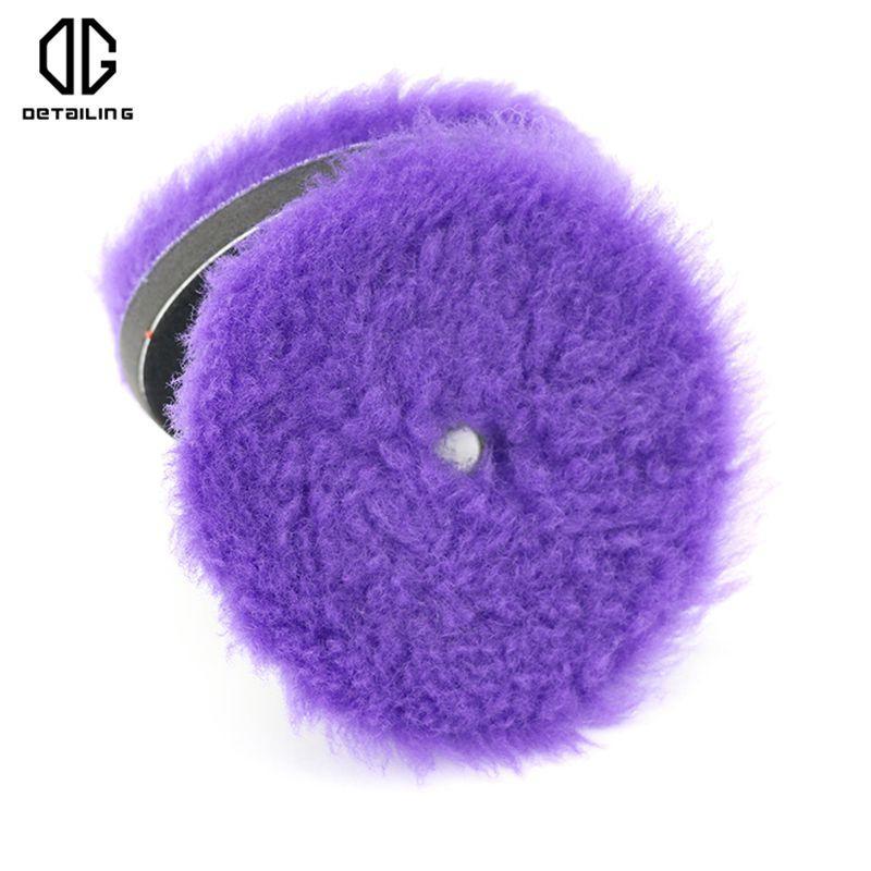 DETAILING Professionelle 150mm 100% weiche Wolle Polieren Polieren Pad Schwer Cut Wollauflage für Dual Action Car Polierer Verwenden