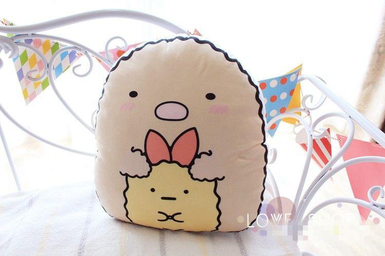 35*35cm Cute San-X Corner Bio Creature Plush Pillow Sleeping Toys Soft Stuffed Cartoon Animal Sofa Bed Office Car Back Cushion