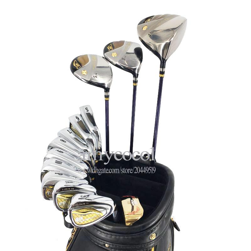 Nouveaux hommes Clubs de golf GIII Compelete ensemble de clubs Golf Driver fers à bois Putter Graphite ou Steel Golf Shaft Pas de sac Livraison gratuite