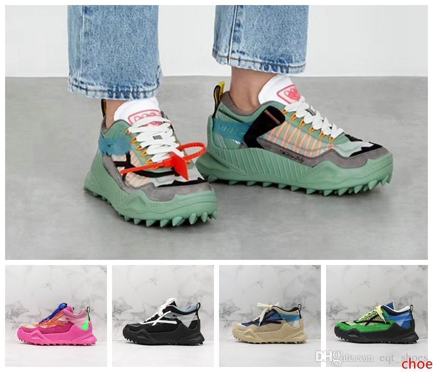 2020 новые мужские 19fw ODSY-1000 Arrow кроссовки мода платформа белый черный зеленый розовый дизайнерские кроссовки Кроссовки женские спортивные Chaussures