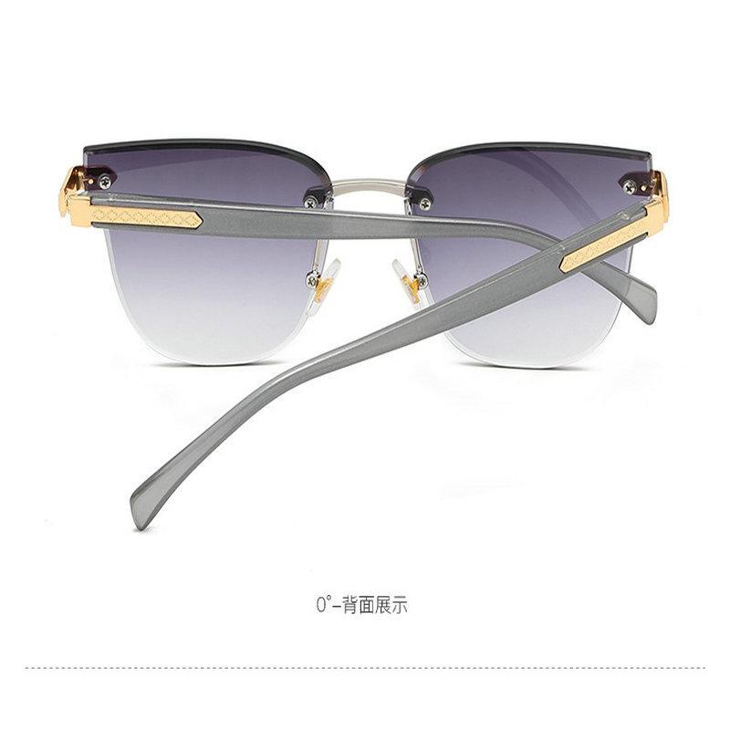 Gradient rahmenlos Sonnenbrille QPeClou große Blume Frameless Sonnenbrille Frauen Unregelmäßige Gradient Sonnenbrillen Männer in Über Randlos FuXR3 QMLgW