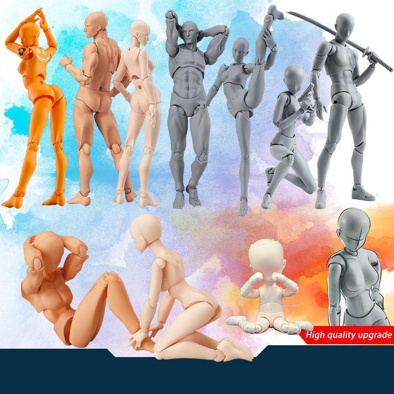 Anime Arquétipo Ele Ela Ferrite figma Movable Feminino corpo Kun Chan corpo Ação PVC figura modelo Brinquedos Doll para Collectible SH190910