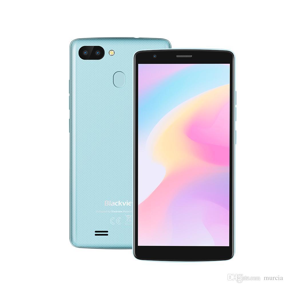 Blackview A20 Pro 스마트 폰 Android 8.1 MTK6739 쿼드 코어 5.5 ''18 : 9 HD + 2GB + 16GB 듀얼 리어 카메라 지문 4G 휴대 전화