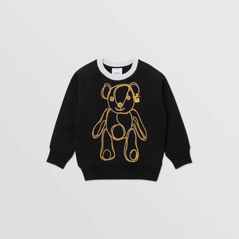 Дети свитер 2020 новые дети моды одежды осень и зима медведь печати пуловер WSJ002 # 122037 kids04