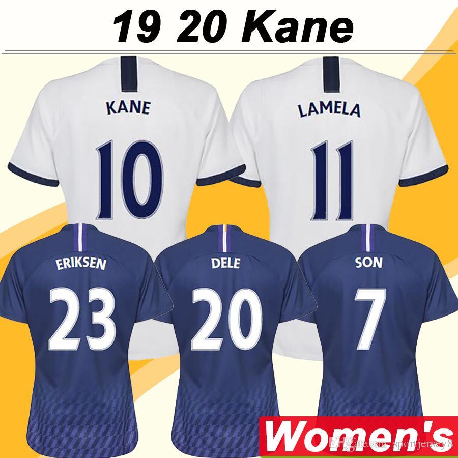 19 20 KANE LAMELA Jersey fútbol de las mujeres DELE ERIKAEN VENTONGHEN Home Away Camisetas de fútbol Uniformes SISSOKO LLORENTE de manga corta de los jerseys
