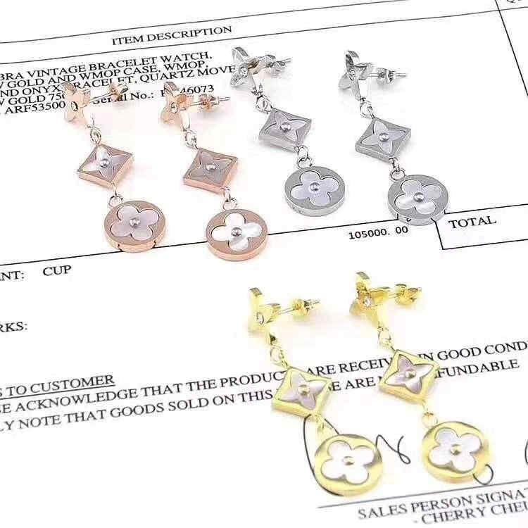 bijoux de luxe collier de créateur pour les femmes titane acier collier pendentif collier chaude mode L bracelet boucles d'oreilles de marque (sans boîte)