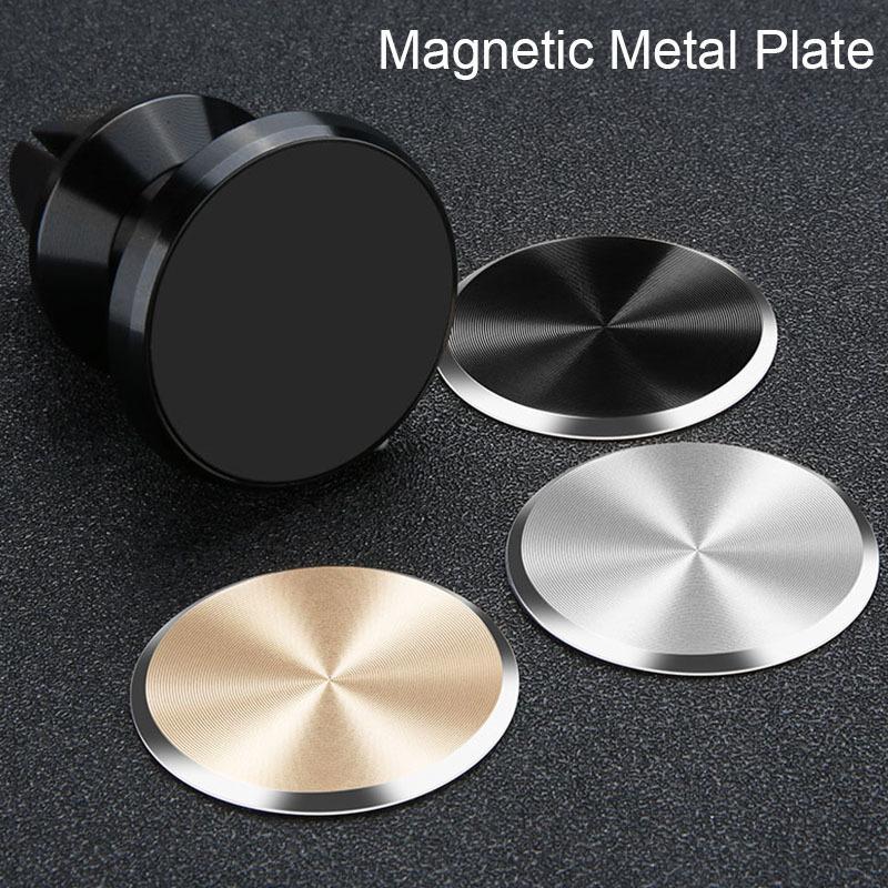 ملصقات طلاء الحديد على حامل الهاتف سيارة المغناطيسي ل xiaomi هواوي لوحة معدنية عالمية ل جبل المغناطيس ل فون 7