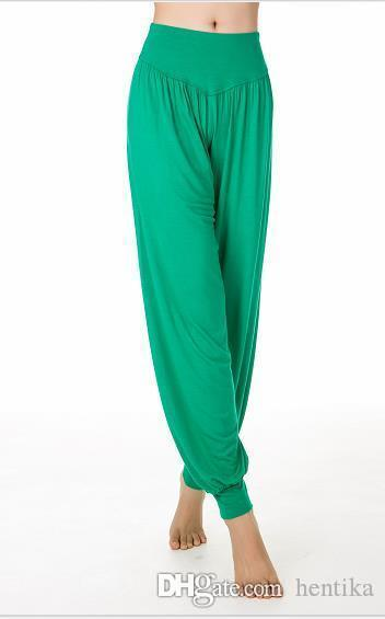 16 Colors Lantern Soft Loose Trousers Cotton Fabric Breathable Plus Size Modal Fitness Gym Women Leggings Yoga Sports Pants