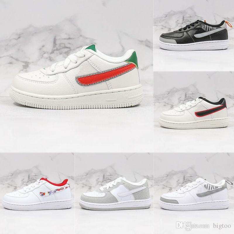 2020 Новая Детская обувь Super Cute UN2. 0 1 LOW KIDS Low-Top Black White Silver Trend спортивная обувь