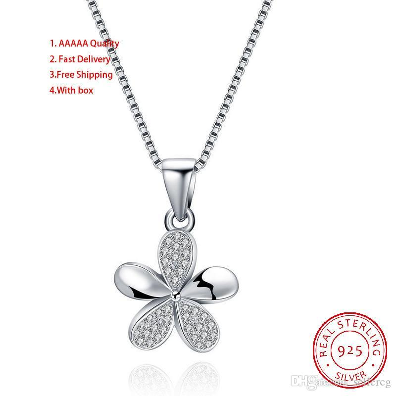 Necklace Red Flower South American Power Necklaces Box Chain Necklaces For Women Sterling Silver Pendants For Women Agate Pendants