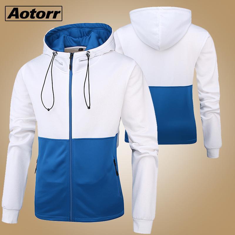 2020 Nova Primavera Inverno Hoodied Mens Moletons sólido com capuz lã grossa Hoodies Homens Sportswear Zipper Moletons Homens Tracsuits Y200519