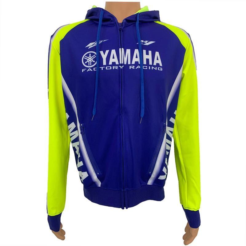 Mens Designer Jackets MOTO GP Jacket Zipper Hoodie para a Yamaha de fábrica Esporte da equitação da motocicleta camisola Windproof Motocross Jacket 077-1