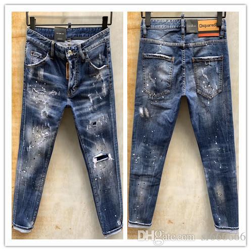 2020 nueva marca de pantalones vaqueros ocasionales de los hombres americanos, el lavado de alto grado, moler a mano puro Europea de moda y, optimización de la calidad LT978