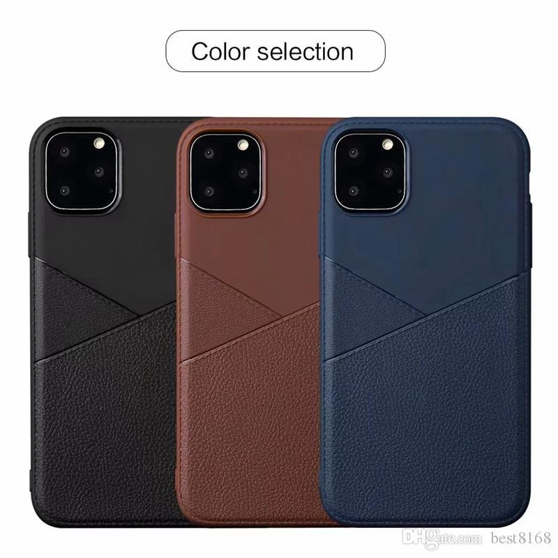 Чехол для Iphone 11 Новый 5.8 6.1 6.5 дюймов 2019 Samsung Note 10 Pro Классический Leechee Grain Slim Мягкий ТПУ Роскошный бизнес Untra Тонкий телефон Обложка