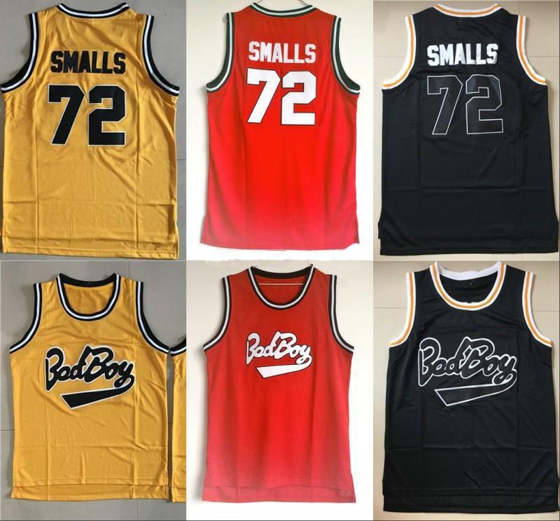 Mens Biggie Smalls Jersey Lotory B.i.g. Сшитый плохой мальчик баскетбол джерси # 72 Biggie маленькие сшитые баскетбольные рубашки