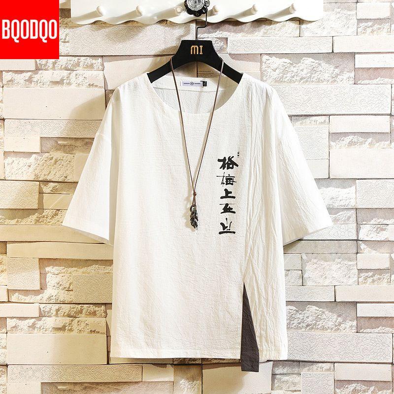 Mode coton pour hommes T-shirt blanc T-shirts drôle Hommes Homme d'été surdimensionnée T-shirts 5XL T-shirt décontracté T pour l'homme Streetwear