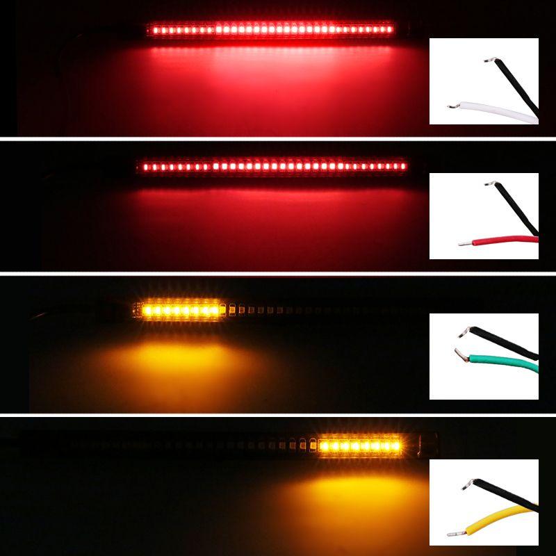 10PCS/Lot Flexible Led Light Strip For Motorcycle 48Smd Brake Stop License Plate Lighting Universal Led Motorcycle Light Strip