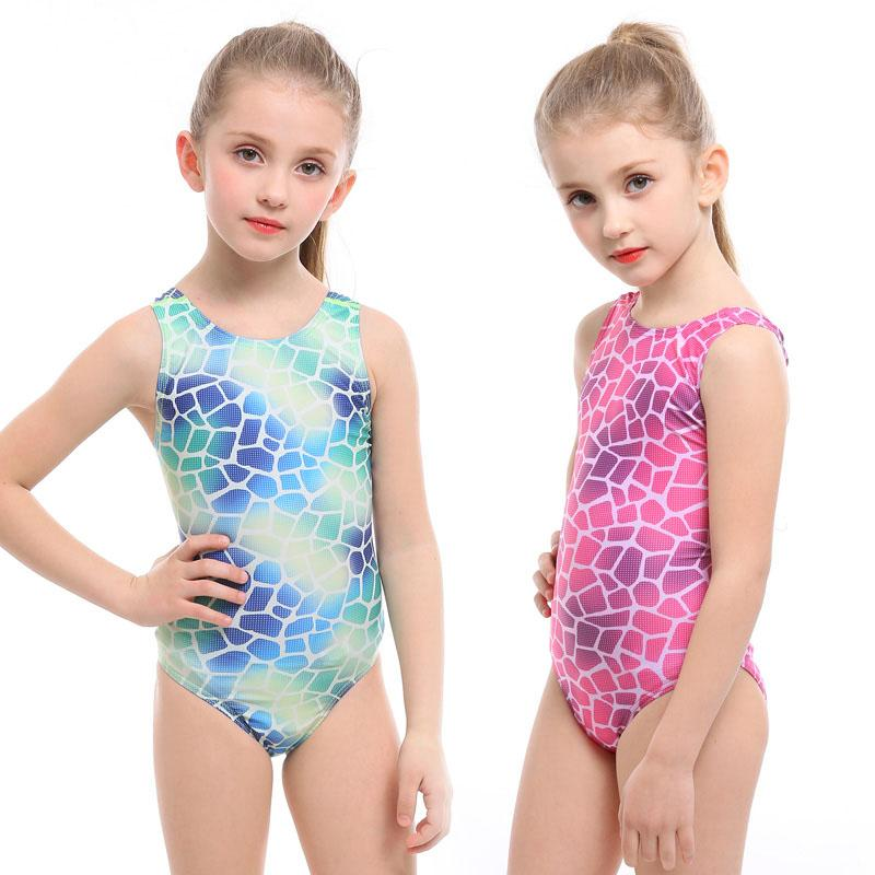 Kids Baby Girl Bathing Suit Cute Children's Professional Swimming Suit For Girl Competition Swimsuit One Piece Swimwear