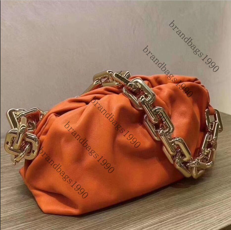 Bolsa 30cm más nuevo diseñador de la cadena bolsa bolso de lujo del cuero genuino de las mujeres del hombro del totalizador de la nube de alta calidad