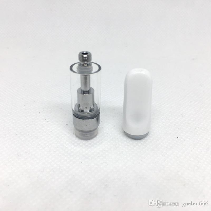 0.5ml TH205 Vape Cartridges 1ml Empty Ceramic Coil Vape Cartridge Thick Oil Ceramic Mouthpiece Glass Tanks Vape Pen Atomizers
