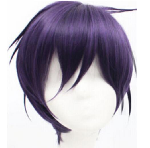 Бесплатная доставка + + новый аниме стиле черный фиолетовый Норагами ято короткие косплей костюм парик