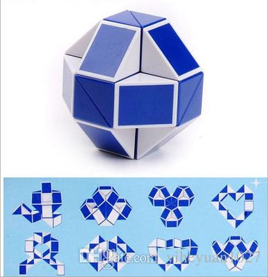 Mini Creative Magic Snake Shape Toy Game 3D Cube Puzzle Twist Puzzle Toy Gift Random Intelligence Toys Supertop Gifts