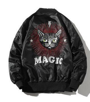 Pilot куртка котик Вышитые мужские куртки Hip Hop Outer Wear