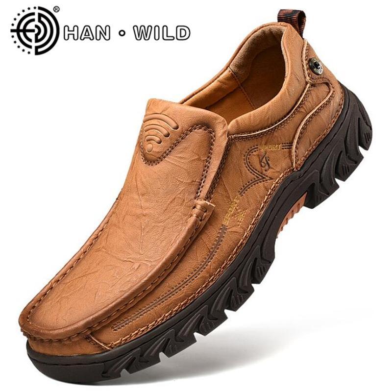 متجمد جلد البقر الرجال الاحذية الجلدية حقيقية الرجال المتسكعون الانزلاق على الأحذية الأخفاف المطاط وحيد لتعليم قيادة السيارات