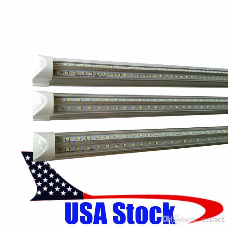 V-Shaped 3ft 26W Integrated Led T8 Tube Lights 900MM super bright 2700LM SMD 2835 warm white/cold white AC 85-265V led glow lights Crestech