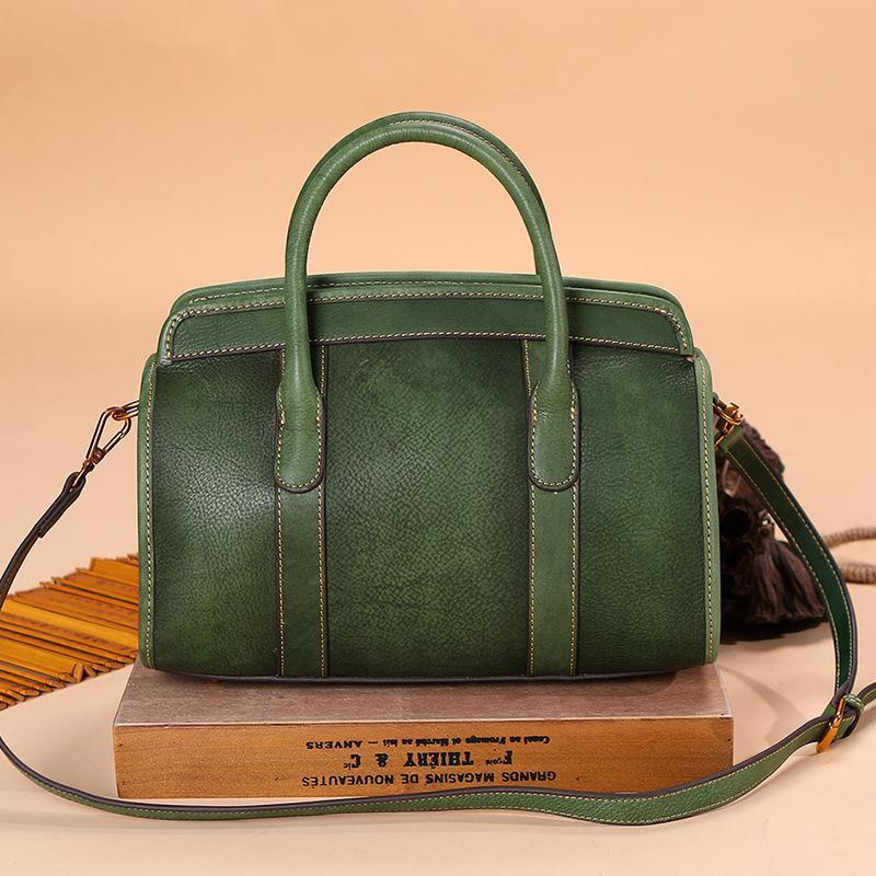 Nouveau légume sac à main de femmes en cuir peint à la main sac à main en cuir tanné un sac rétro sac à main épaule oblique