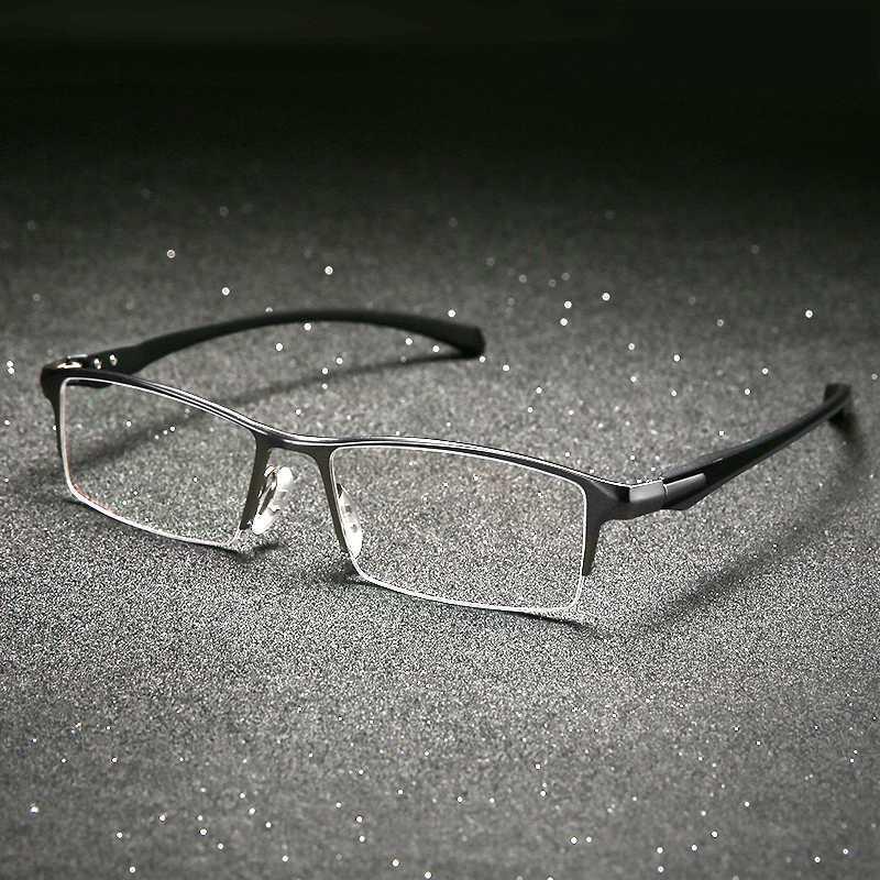 Gafas de titanio de vidrio de vidrio de ojos de alta calidad para hombres Marco para hombres Myopia Light Gafas Marcos para IRSTC