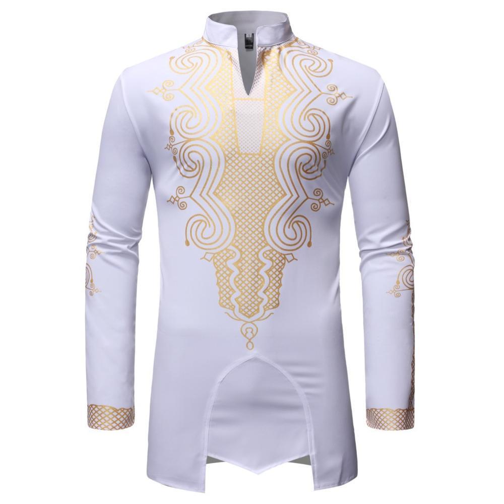 중국 수입 도매 남자 셔츠 최고 스트리트 여름 아프리카 스타일 인쇄 드레스 셔츠 남성 의류 B557