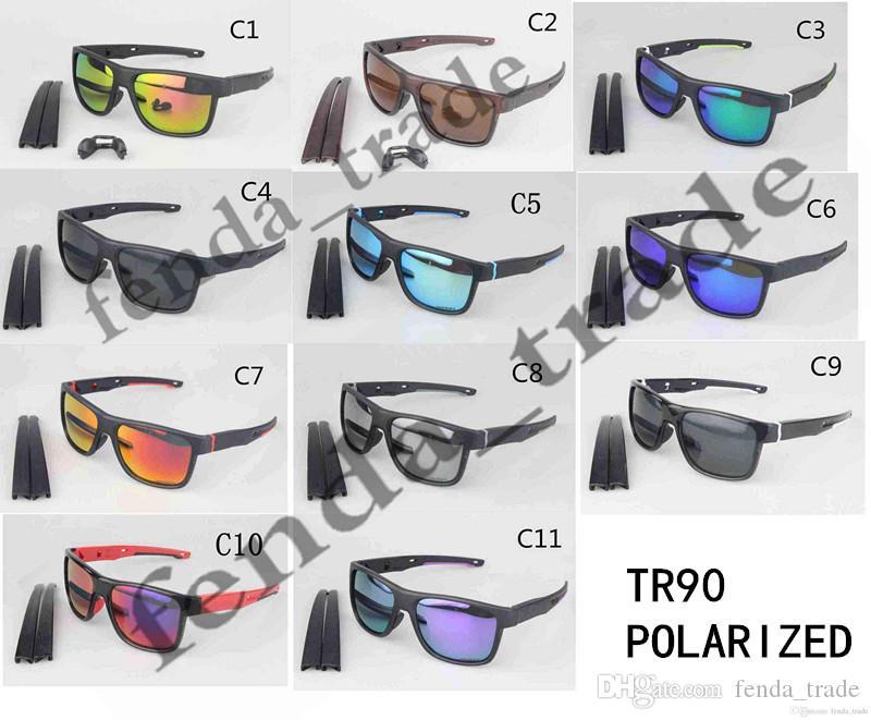 2018 جديد TR90 الرياضة الرياضة النظارات الرجال الاستقطاب العلامة التجارية مصمم uv400 حماية الشمس جودة عالية موك = 10