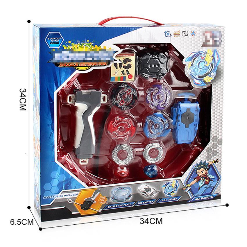 Box Beyblade originale Burst Vendita fusione del metallo di 4D BB807D con i lanciagranate e arena Trottola Set gioco per bambini ToysMX190926