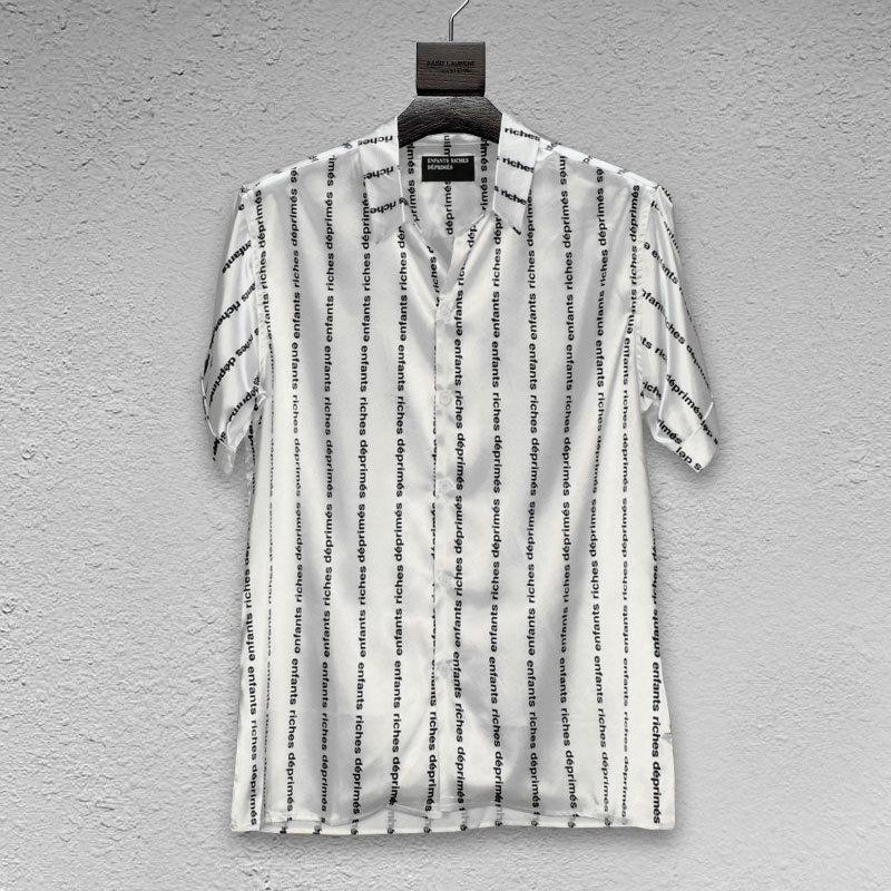 ABD High Street Tide Marka ERD Mens Tasarımcısı Tişörtlü Enfants Zenginlik Deprimes Champagne Gelişmiş Gömlek Avrupa ve Amerikan Kısa kollu