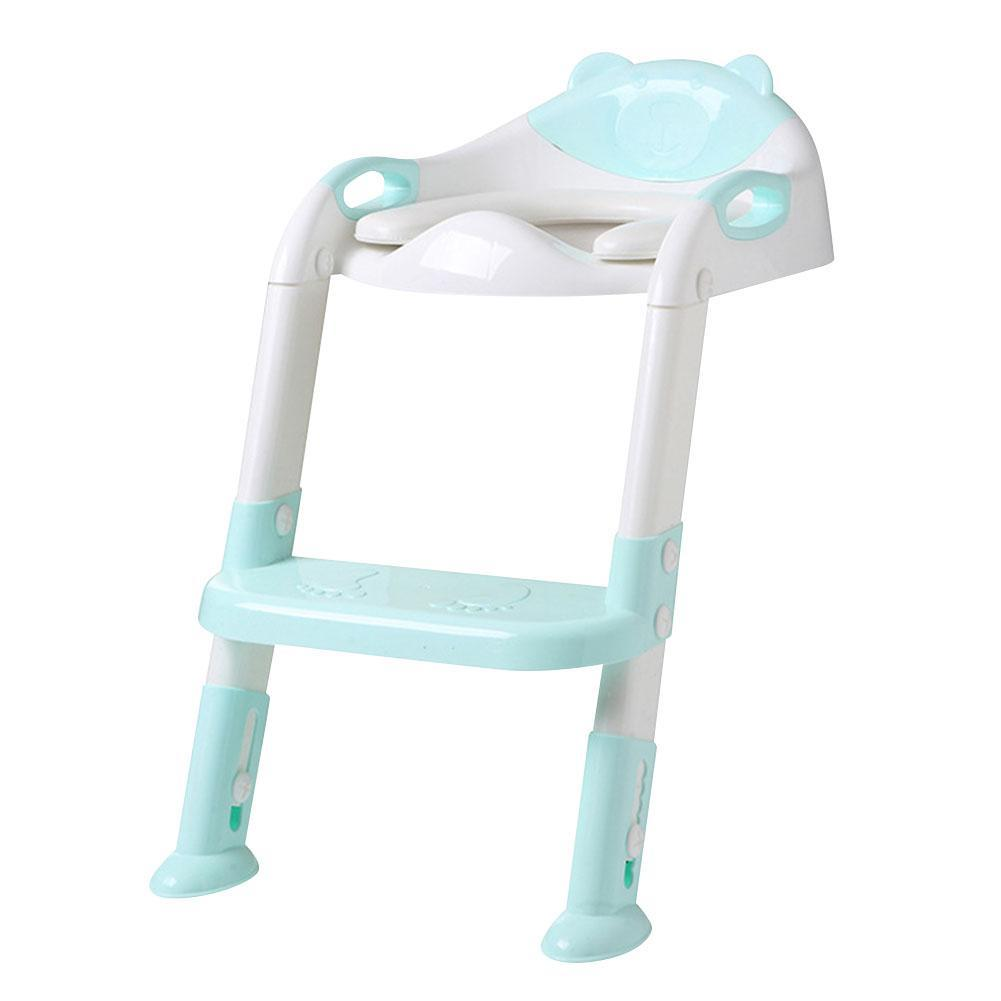 Children's Toilet Baby Folding Potty Training Seat with Solid Anti - Slip Step Ladder Potty Training Toilet Seat with Ladder Tod