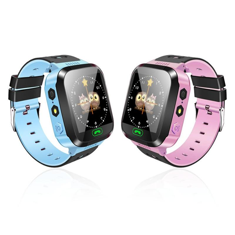 Y21 GPS Kids Smart Watch Anti-Lost Flashlight Baby Smart Wristwatch SOS Call Location Device Tracker Bracelet Safe For iOS Android Phone