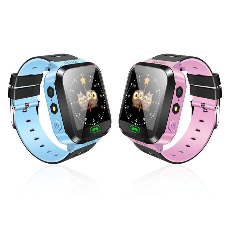Telefone Y21 GPS Crianças relógio inteligente Anti-Lost Lanterna do bebê inteligente Relógio de pulso SOS Chamada Localização dispositivo rastreador Pulseira seguro para iOS Android