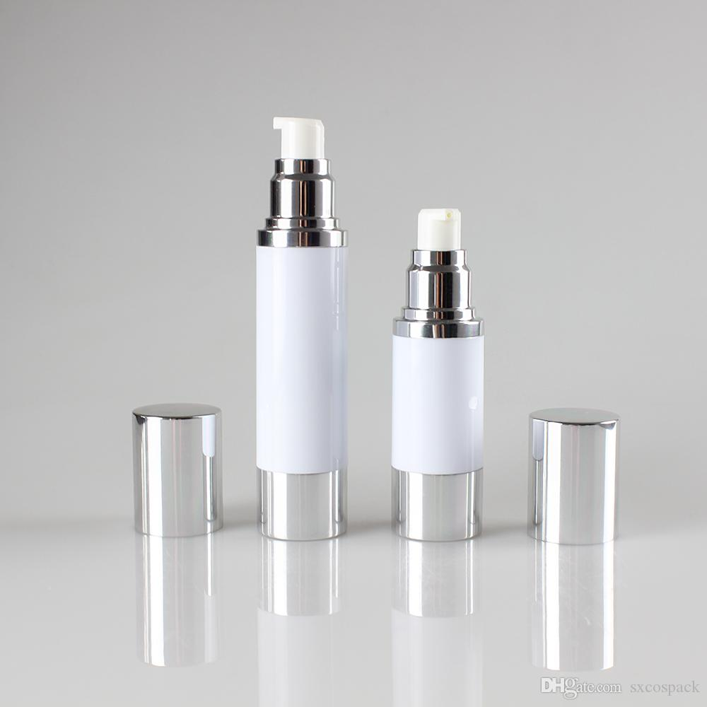 Serum için toptan 1.7oz vakum şişesi, sprey şişesi pompa krem yüz kremi, plastik şişe hotsale 50ml