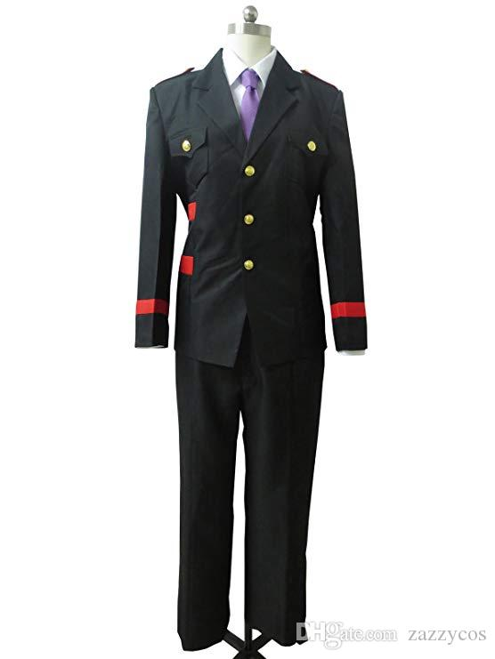 Noragami Chokki Shinki Kazuma traje de traje negro Cosplay
